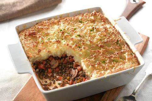 Country garden cottage pie