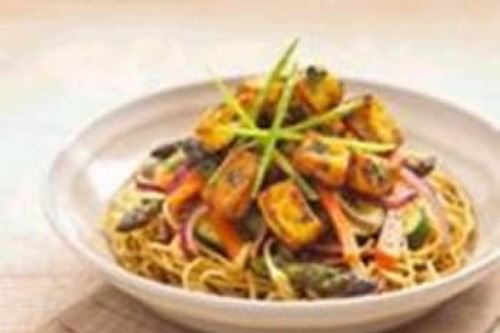 Scrumptious honey tofu stir-fry