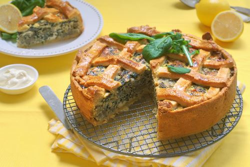 Vegan 'Cheese' and Spinach Pie