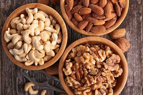 Walnuts, Cashews, Almonds
